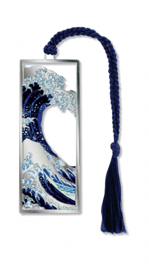 Lesezeichen Hokusai »Die große Welle vor Kanagawa«.