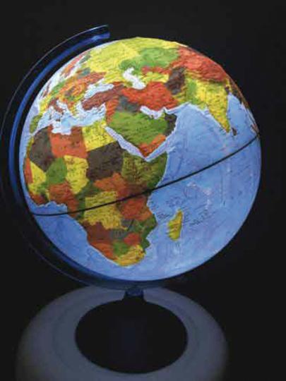 Leucht-Globus Classic mit Relief.