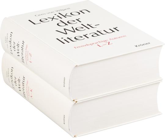 Lexikon der Weltliteratur. Fremdsprachige Autoren. Biographisch-bibliographisches Handwörterbuch A - Z. 2 Bände.