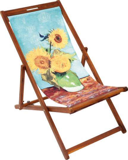 Liegestuhl »Sonnenblumen« nach van Gogh.