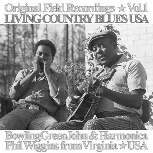 Living Country Blues USA Vol. 1. Bowling Green John & Harmonica Phil Wiggins. Vinyl LP.