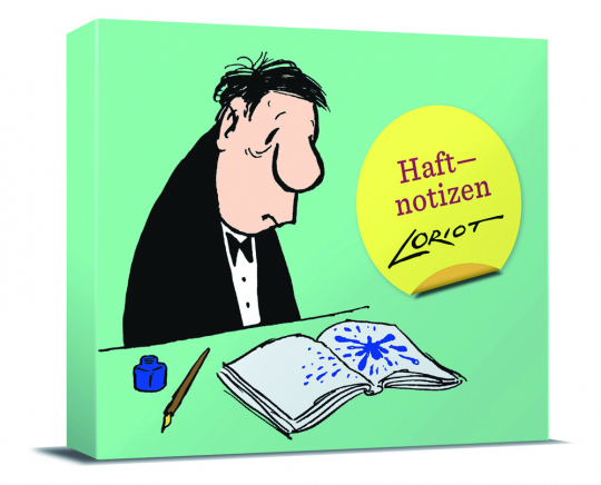 Loriot Haftnotizen - Für den Herrn. Notizzettel-Box.