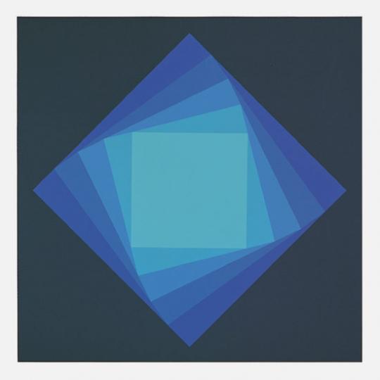 Luitpold Domberger. »LDe 5 Blue Turn«, 1971. Originalgrafik.