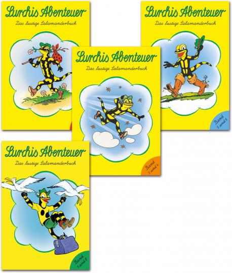 Lurchis Abenteuer. Das lustige Salamanderbuch. Alle vier Doppelbände im Set.