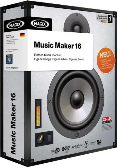 Magix Music Maker auf 16 CD-ROMs.