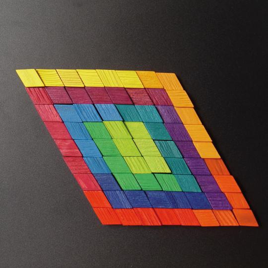 Magnet-Relief Mosaik, Rhomben.
