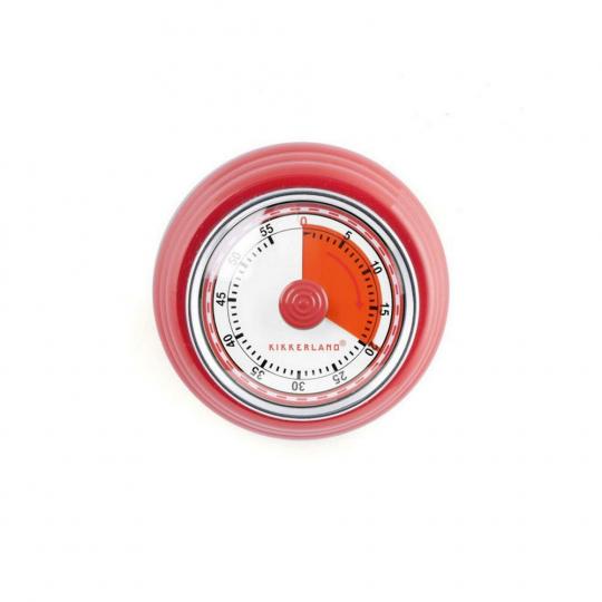 Magnetische Küchenuhr rot.