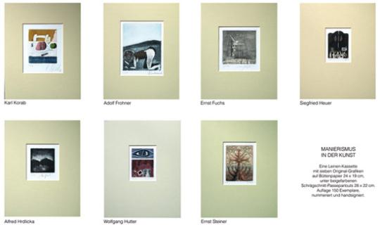 Manierismus in der Kunst. Mappe mit 7 Originalgrafiken.