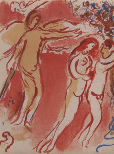 Marc Chagall. Adam und Eva.