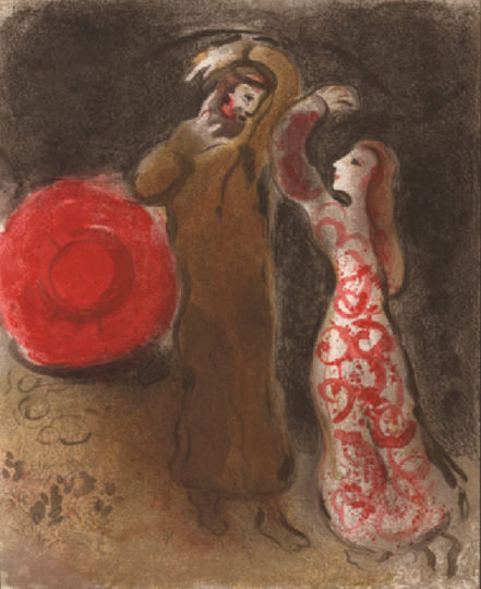 Marc Chagall. Ruths Treffen mit Boas.