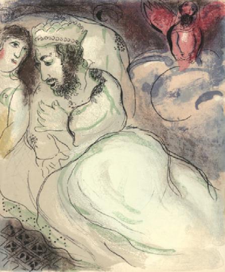 Marc Chagall. Sarah und Abimelch.