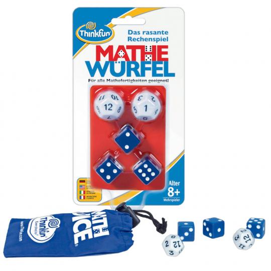 Mathe Würfel - Das rasante Rechenspiel. Für alle Mathefertigkeiten geeignet