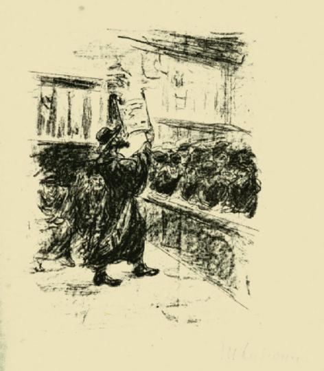 Max Liebermann. In der Synagoge.