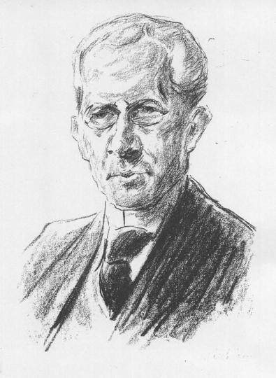 Max Liebermann. Porträt Arno Holz.