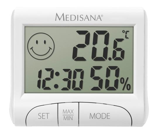 Digitales Thermo- und Hygrometer.
