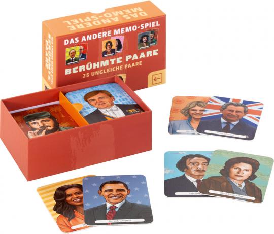 Memo-Spiel. 25 Berühmte Paare.
