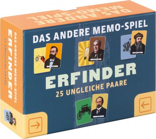 Memo-Spiel. Erfinder.