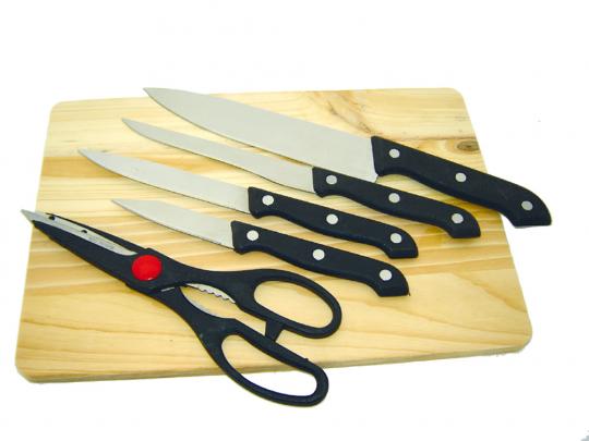 Messer-Set mit Schere.