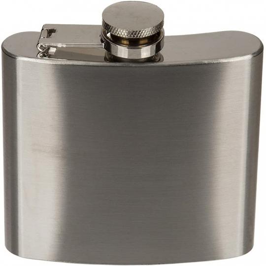 Edelstahl-Flachmann für 150 ml.