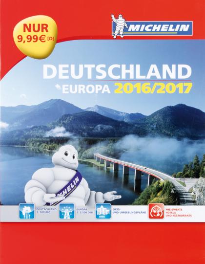 Michelin Straßen- und Reiseatlas. Deutschland und Europa 2016/2017.