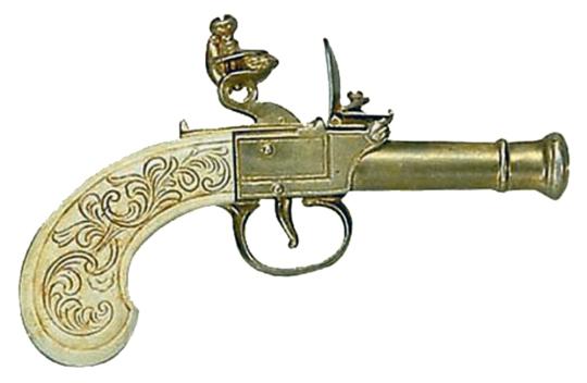 Mini-Steinschloßpistole - Steinschloßpistole klein