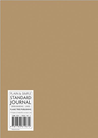Mittelgroßes Skizzenbuch mit linierten Seiten, braun. Koptische Bindung.