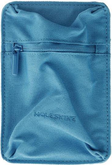 «Moleskine«-Aufbewahrungstasche, blau, mittelgroß.