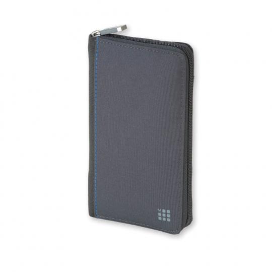 Moleskine Brieftasche mit Reißverschluss, grau.