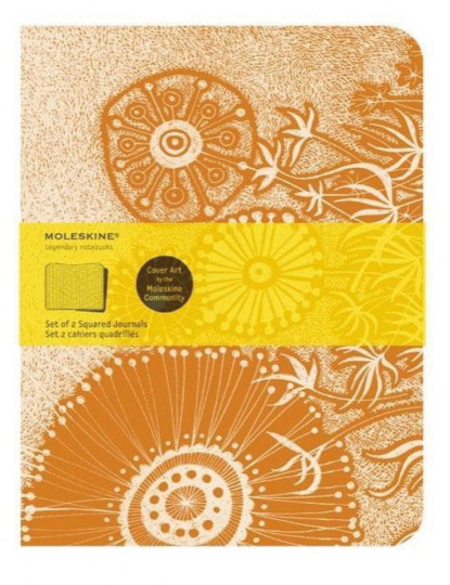 Moleskine Cover Art Notizheft »Flower Fantasy«, kariert. 2er-Set.