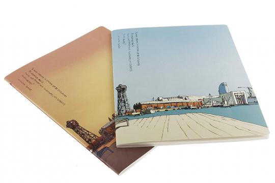 Moleskine Cover Art Notizheft »Harbour«, kariert. 2er-Set.