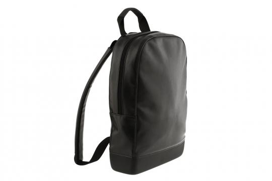 Moleskine Rucksack aus Kunstleder, schwarz.