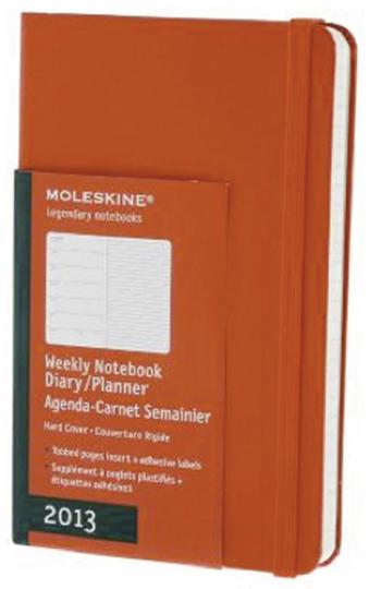 Moleskine Taschenkalender 2013, rot.