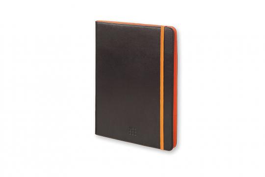 Moleskine Universalhülle für Tablets, schwarz-orange.