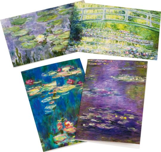 Monet Grußkartenset mit Briefumschlägen.