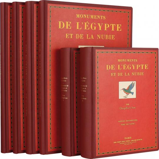 Monuments de l'Égypte et de la Nubie. 6 Bände.