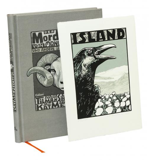 Mordbrand von Ornolfsdalur und andere Isländer-Sagas. Vorzugsausgabe mit Original-Siebdruck.