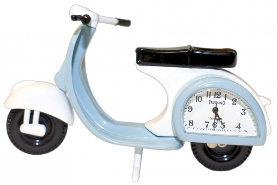Vespa-Roller mit Uhr.