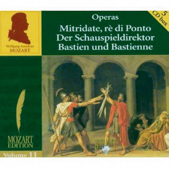Wolfgang Amadeus Mozart: Mozart-Edition Vol.11. 5 CDs.