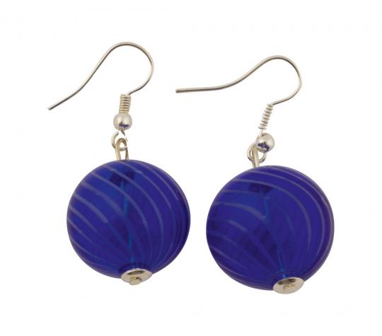 Murano-Ohrringe »Blaue Perlen«.