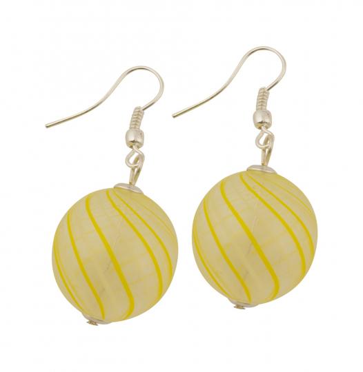 Murano-Ohrringe »Gelbe Perlen«.