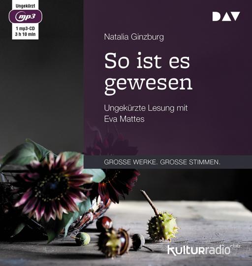 Natalia Ginzburg. So ist es gewesen. Ungekürzte Lesung. 1 mp3-CD.