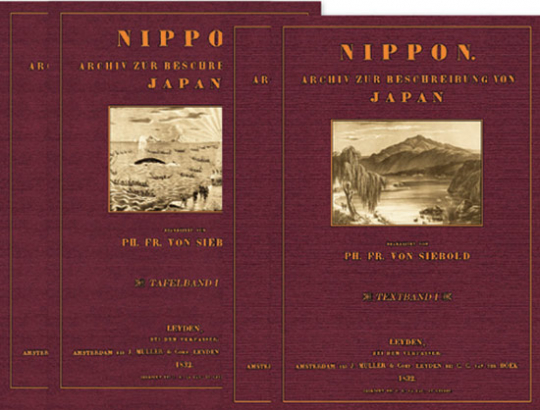 Nippon. Archiv zur Beschreibung von Japan. 4 Bände.