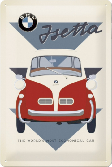 Nostalgisches Blechschild: BMW Isetta