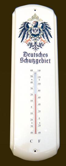 Nostalgisches Thermometer Deutsches Schutzgebiet aus Blech
