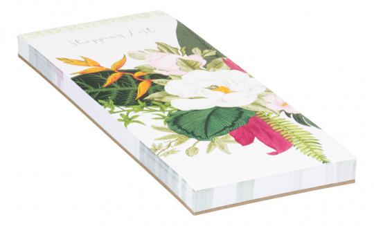 Notizblock für Einkaufslisten. Botanicals.