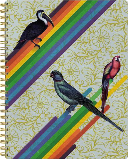 Notizbuch Follow the Rainbow. Blanko.