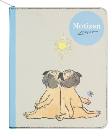 Notizbuch Loriot Mops.