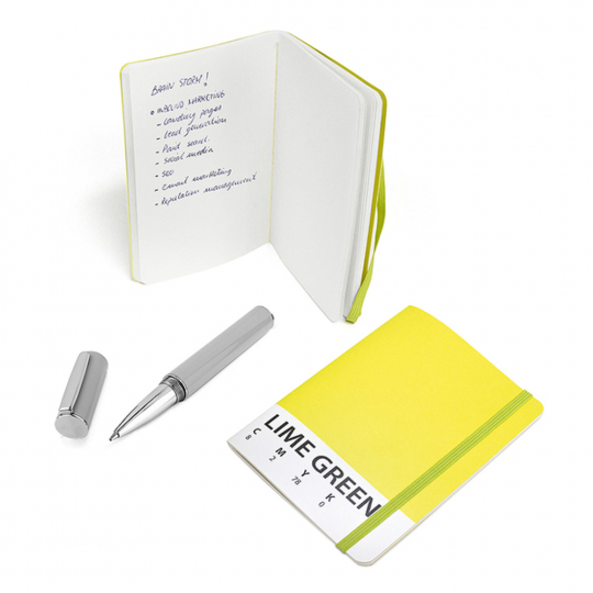 Notizbuch »CMYK«, lindgrün.
