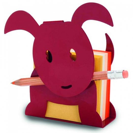 Notizzettelhalter »Hund«, rot.