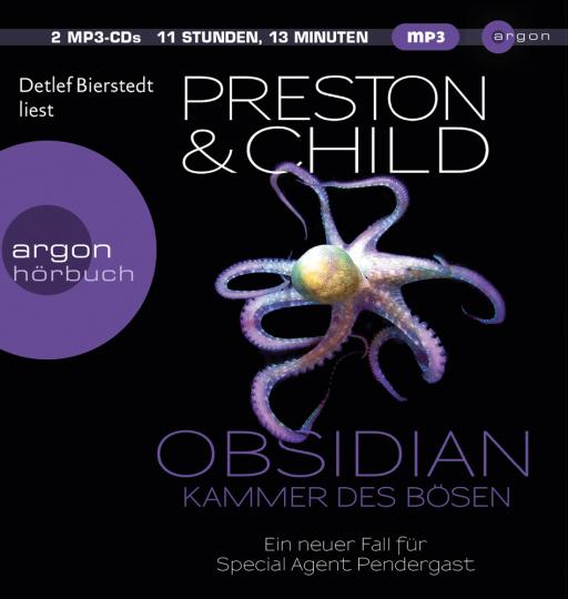 Obsidian. Kammer des Bösen. Ein neuer Fall für Special Agent Pendergast. 2 MP3-CDs.